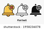 flat bell with cross vector...