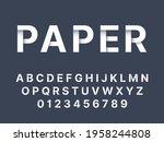 origami font. white folded...   Shutterstock .eps vector #1958244808