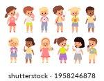 children eat sweet food. cute...   Shutterstock .eps vector #1958246878