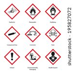 new hazard pictogram | Shutterstock .eps vector #195827072