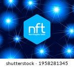 nft non fungible token logo...   Shutterstock .eps vector #1958281345