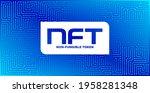 nft non fungible token logo...   Shutterstock .eps vector #1958281348