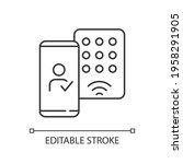 detecting mobile credentials... | Shutterstock .eps vector #1958291905