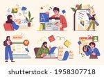 professional writer  bloggers ... | Shutterstock .eps vector #1958307718