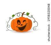 halloween pumpkin icon 3d....   Shutterstock .eps vector #1958320048