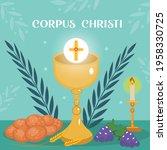 corpus christi catholic... | Shutterstock .eps vector #1958330725