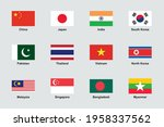 asia flags official proportions ... | Shutterstock .eps vector #1958337562