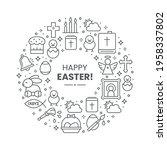 vector easter background design ...   Shutterstock .eps vector #1958337802