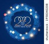 happy new 2022 year  elegant...   Shutterstock .eps vector #1958340208