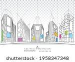3d illustration architecture...   Shutterstock .eps vector #1958347348