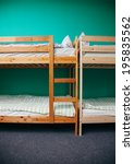 Stock photo hostel room with city view color room bright interior 195835562