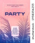 palm tree holiday party poster... | Shutterstock .eps vector #1958356255
