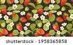 strawberry background with... | Shutterstock .eps vector #1958365858