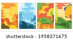 set of vector posters with...   Shutterstock .eps vector #1958371675