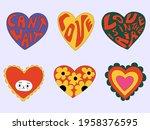 vector set of valentines in...   Shutterstock .eps vector #1958376595