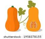 vector set of orange pumpkins... | Shutterstock .eps vector #1958378155
