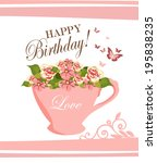 happy birthday | Shutterstock .eps vector #195838235