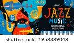 summer international jazz music ... | Shutterstock .eps vector #1958389048