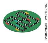 green kids isometric carpet...   Shutterstock .eps vector #1958410702