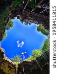 Cenote In The Ancient City Of...