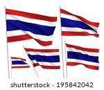 thailand vector flags set. 5... | Shutterstock .eps vector #195842042