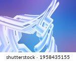 light pink  blue vector blurred ...   Shutterstock .eps vector #1958435155