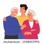 portrait of happy family... | Shutterstock .eps vector #1958447992