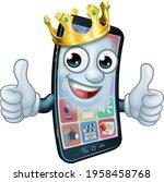 a mobile phone cartoon...   Shutterstock .eps vector #1958458768