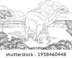 A Dinosaur Like A Diplodocus ...