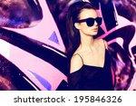 sexy girl outdoor summer... | Shutterstock . vector #195846326