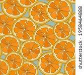 fresh bright summer pattern... | Shutterstock .eps vector #1958464888