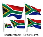 south africa vector flags set.... | Shutterstock .eps vector #195848195