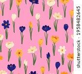 spring flower crocus  saffron... | Shutterstock .eps vector #1958482645