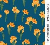 spring flower crocus  saffron... | Shutterstock .eps vector #1958482648