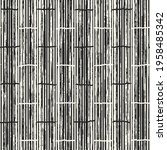 abstract monochrome bamboo... | Shutterstock .eps vector #1958485342