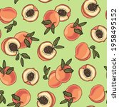 summer pattern with juicy... | Shutterstock .eps vector #1958495152
