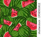 fresh juicy pattern with sweet... | Shutterstock .eps vector #1958501812
