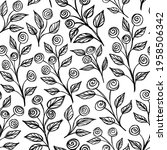 ink black and white monochrome... | Shutterstock .eps vector #1958506342