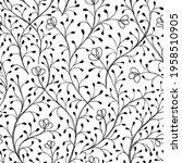 ink black and white monochrome... | Shutterstock .eps vector #1958510905