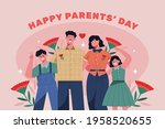 happy parents day. 8 may. ... | Shutterstock .eps vector #1958520655