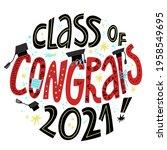 congrats class of 2021 greeting ...   Shutterstock .eps vector #1958549695