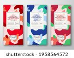 Chocolate Labels Set. Abstract...