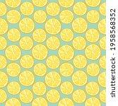 lemons seamless background.... | Shutterstock . vector #1958568352