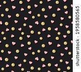 glitter confetti polka dot... | Shutterstock . vector #1958580565