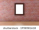 White Poster Or A Wooden...