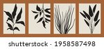 abstract minimalist floral... | Shutterstock .eps vector #1958587498