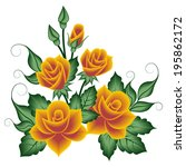 floral pattern  bouquet of roses | Shutterstock .eps vector #195862172