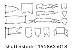 doodle flags. blank isolated...   Shutterstock .eps vector #1958635018