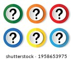 question mark icon set  flat... | Shutterstock .eps vector #1958653975