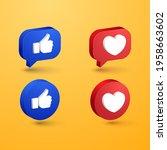 social media love and like...   Shutterstock .eps vector #1958663602